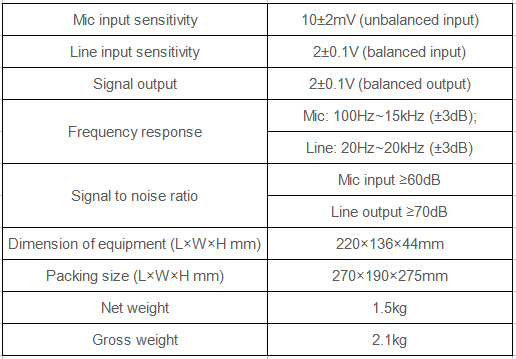 paging mic specification