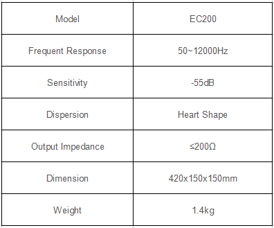 desktop pa microphone specification
